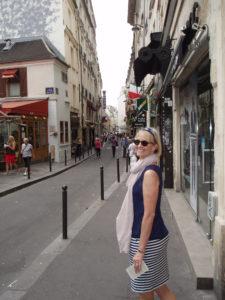 Susan Brauer, traveling in Paris