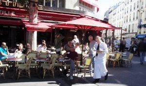 Paris sidewalk cafe street France city of light Eiffel Tower Louvre art museums